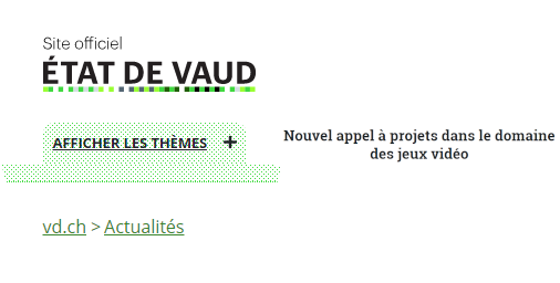 Vaud-Appel à projet jeux vidéo